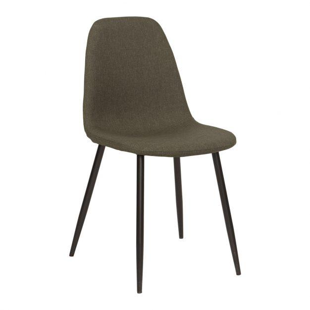 chaise lin design gris taupe