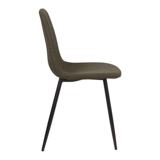 chaise contemporaine lin gris marron