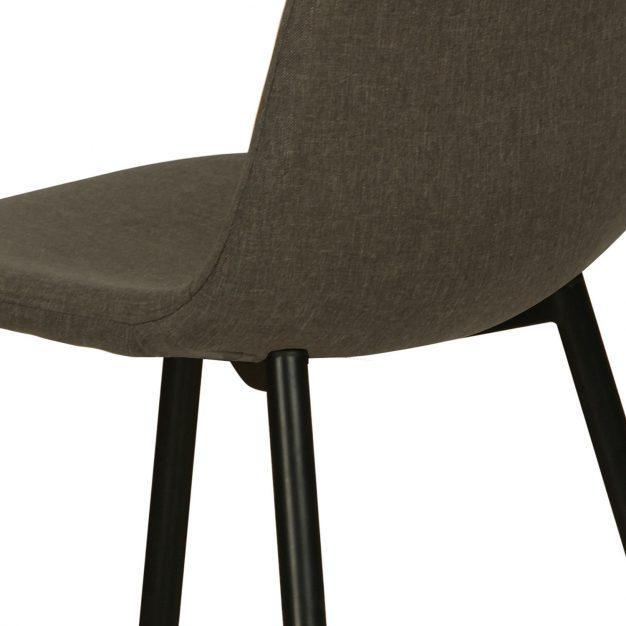 chaise lin moderne pieds noir