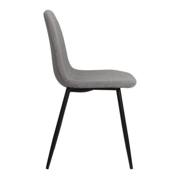 chaise tissu gris claire moderne