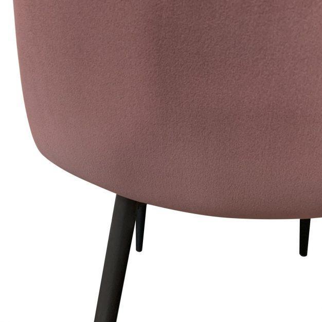chaise velours haute qualité rose