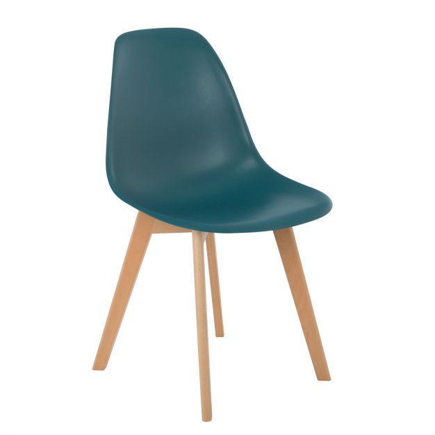 chaise nordique vert canard design