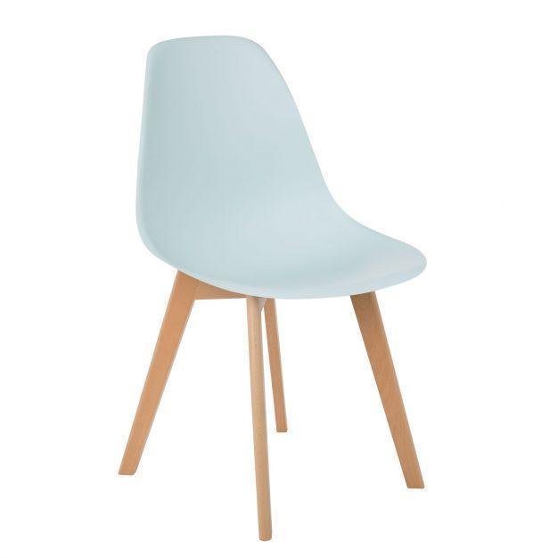 chaise bleu ciel clair moderne nordique