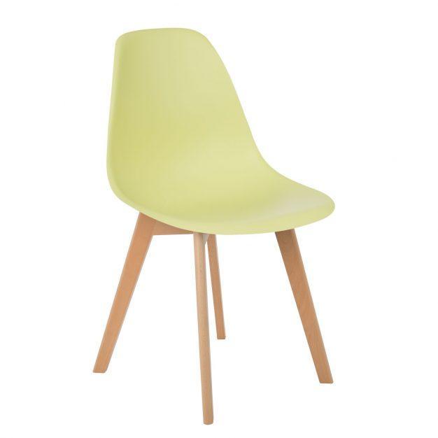 chaise vert pomme clair moderne