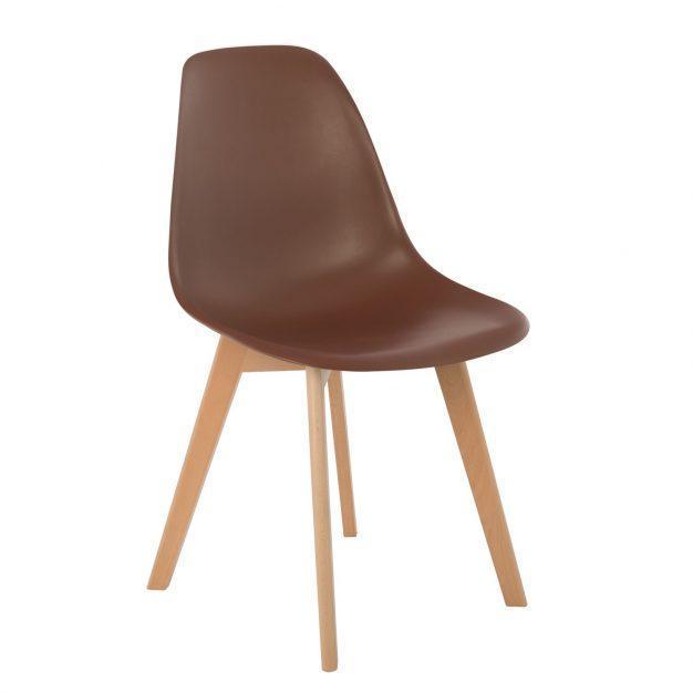 chaise style nordique marron chocolat café