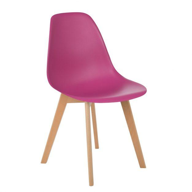 chaise violette prune design nordique