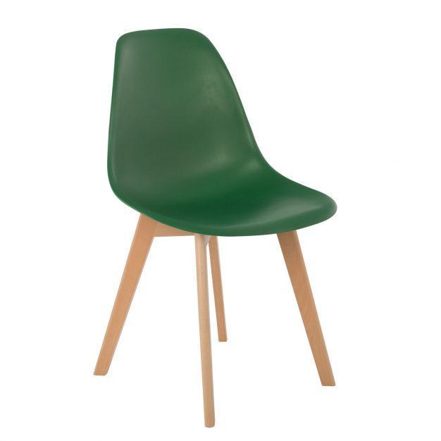 chaise vert sapin pieds bois