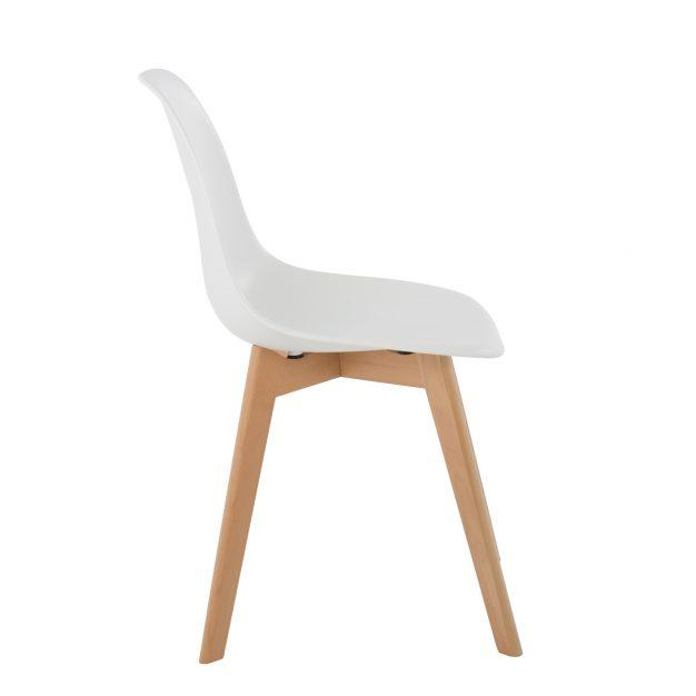 chaise design style nordique blanche