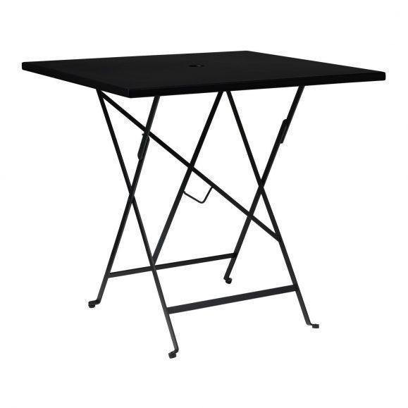 table intérieur extérieur aluminium noir
