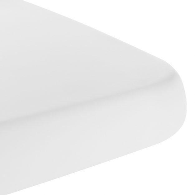 table plateau rectangle solide blanche