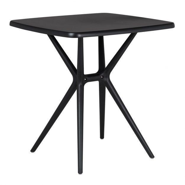 table plateau rectangle noir moderne