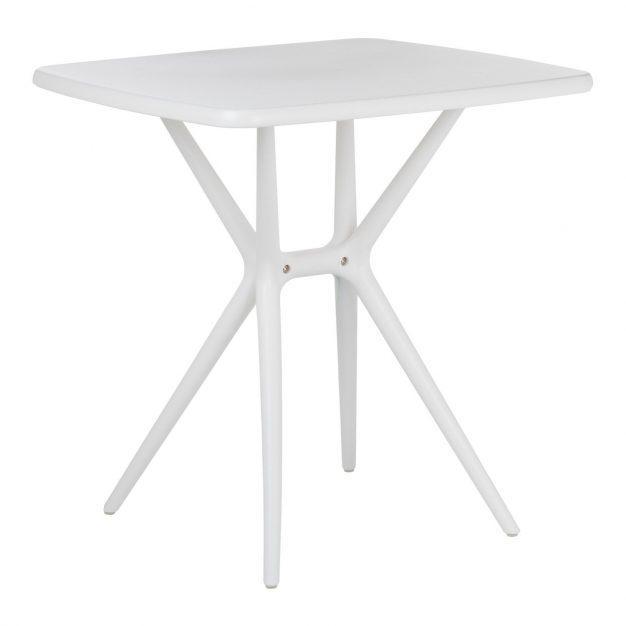table trépied design blanche rectangle