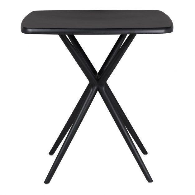 table intérieur extérieur noir solide trepier