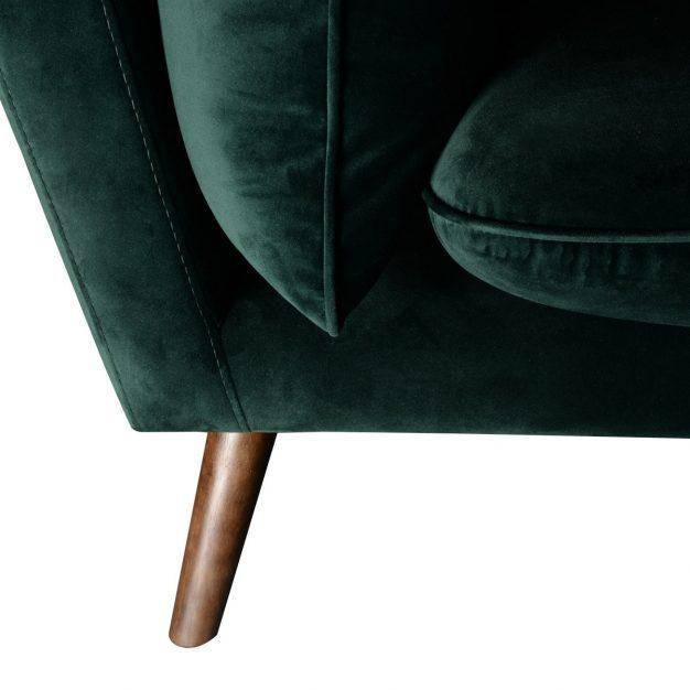 canapé avec pieds en bois