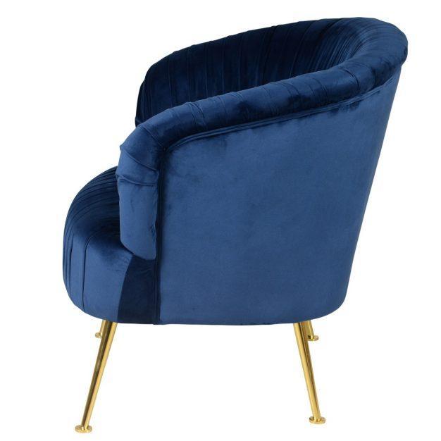 fauteuil divaen velours bleu