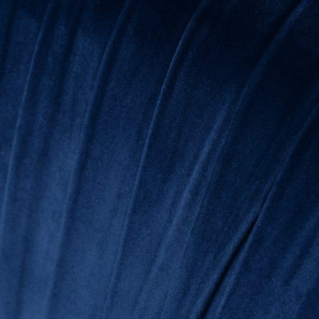 velours plissé bleu