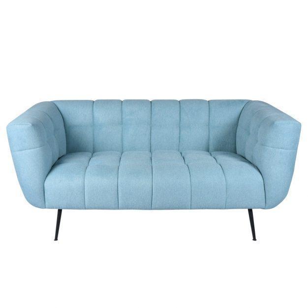 canapé bleu ciel en tissu firora