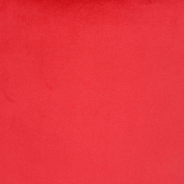 pouf velours rouge