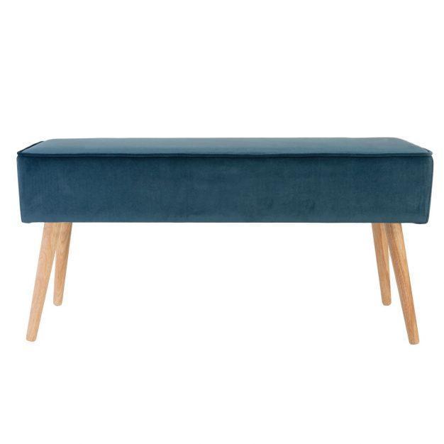 banc bleu turquoise style scandinave