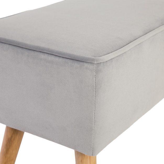 banc matelassé gris
