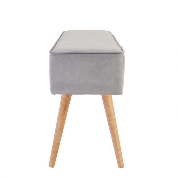 banc velours gris