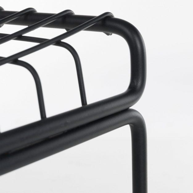 détail chaise métal grid