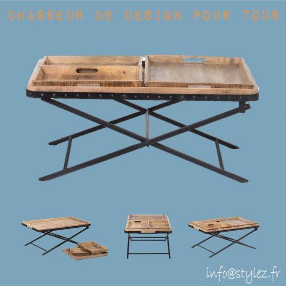 Table 3 plateaux vintage