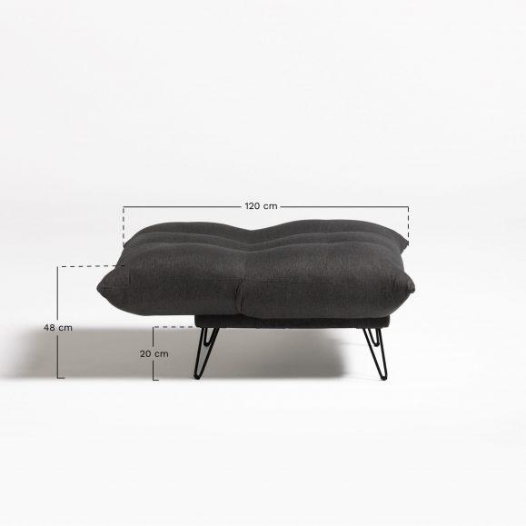 mesure canapé en lin