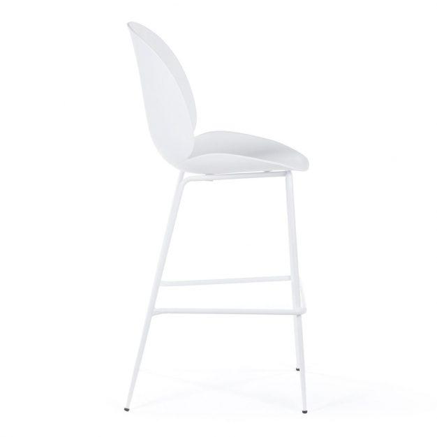 chaise de bar blanc