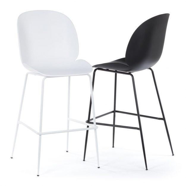 chaises noires et blanches