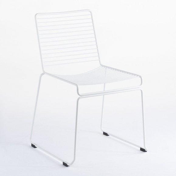 chaise lignes blanche