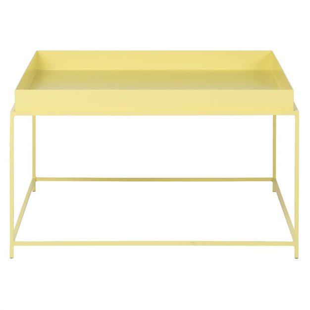 table jaune rectangle