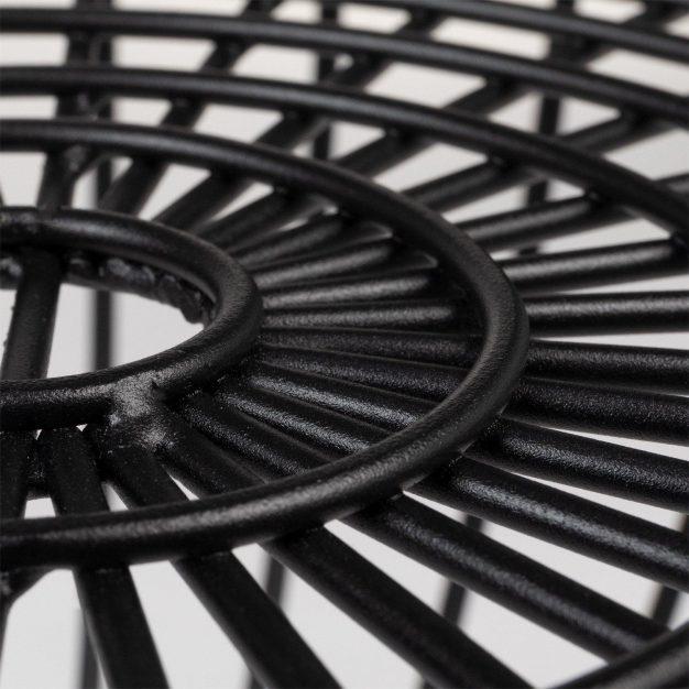 détail noir table