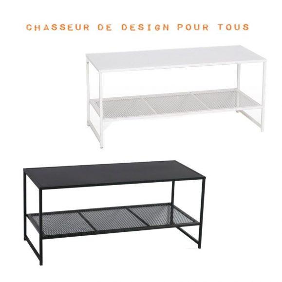 Table basse acier 102cm