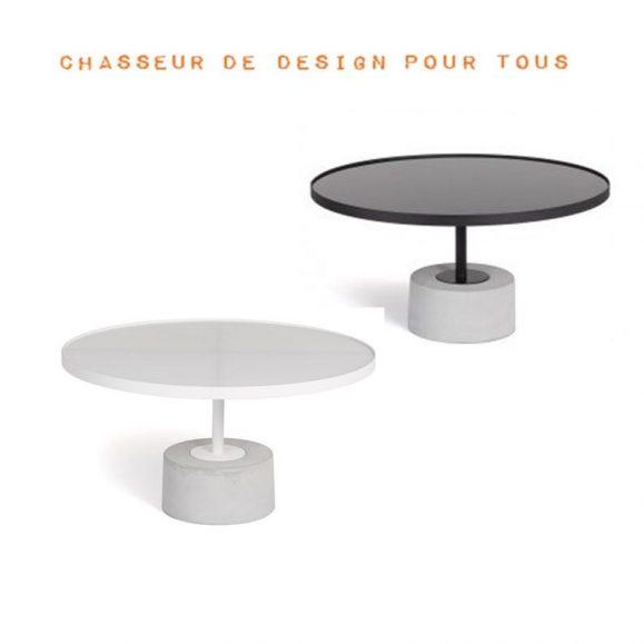 table basse ciment et acier