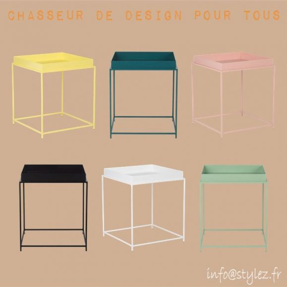 Table basse couleurs 40cm