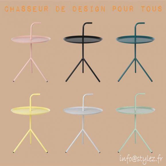 Table poignée colorée