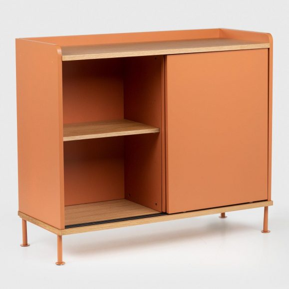 Buffet de couleur mat orange