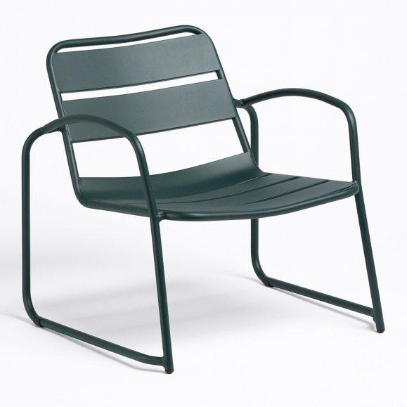 fauteuil exterieur vert