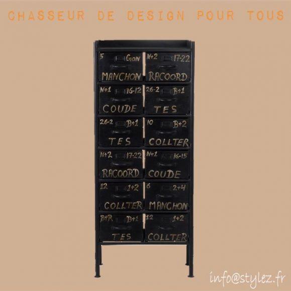 Casier indus 12 tiroirs