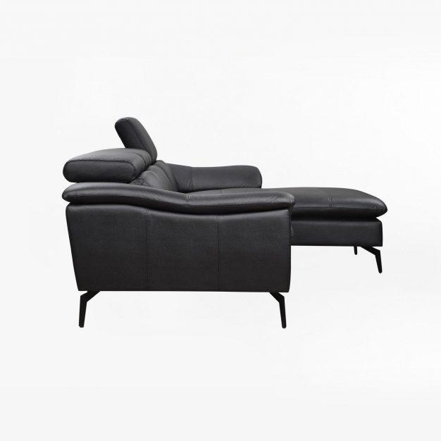 canapé d'angle similicuir noir