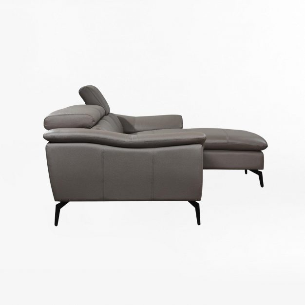canape similicuir gris