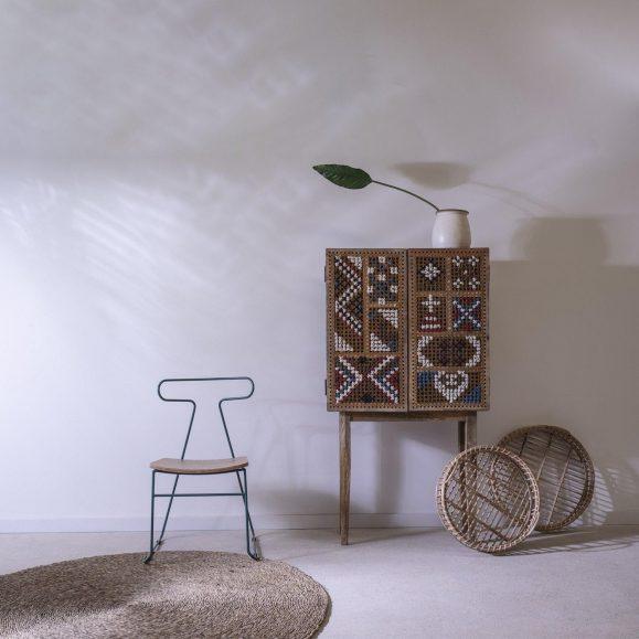 décoration chaise bois et métal