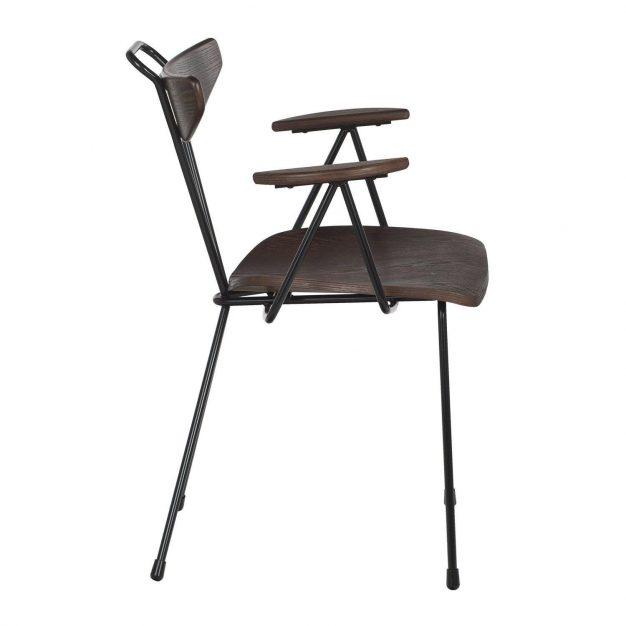 chaise en metal et bois