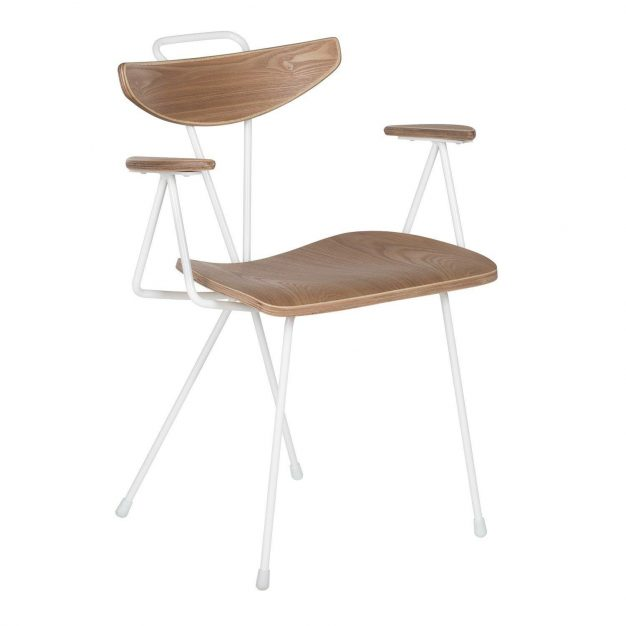 chaise scandinave bois blanc