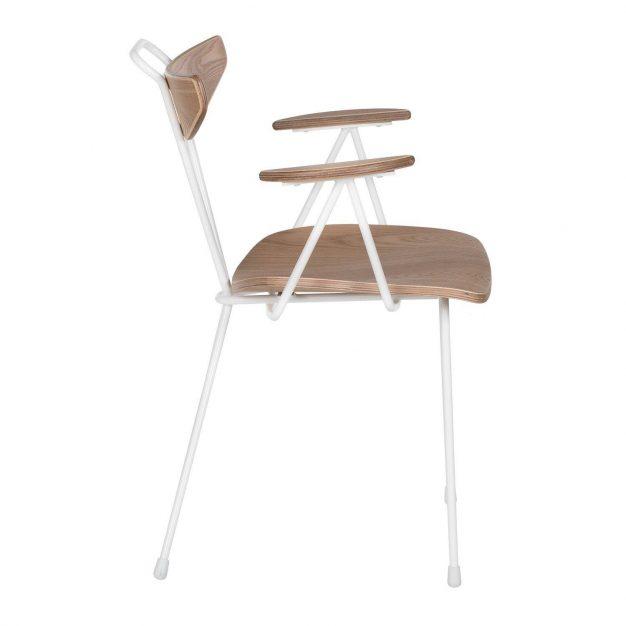 chaise metal blanc