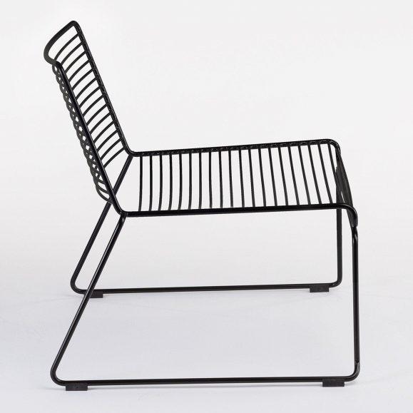 fauteuil lignes noir