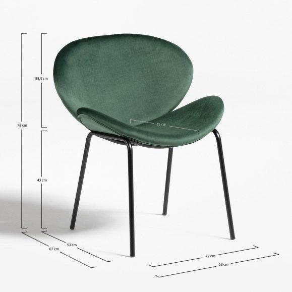 dimension fauteuil vert