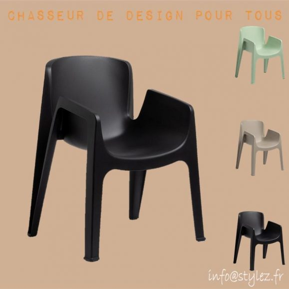 chaise exterieur empilable